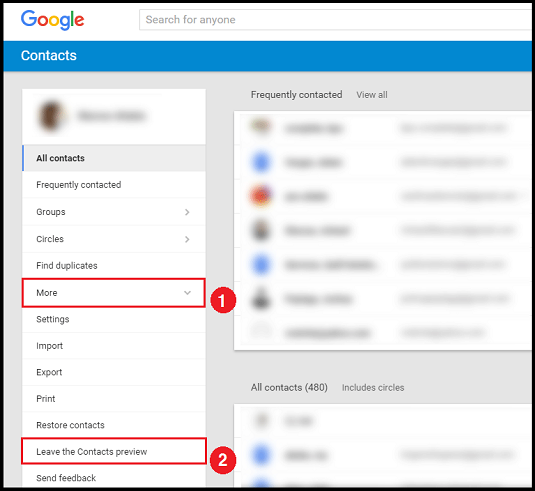 Delete Google Contacts