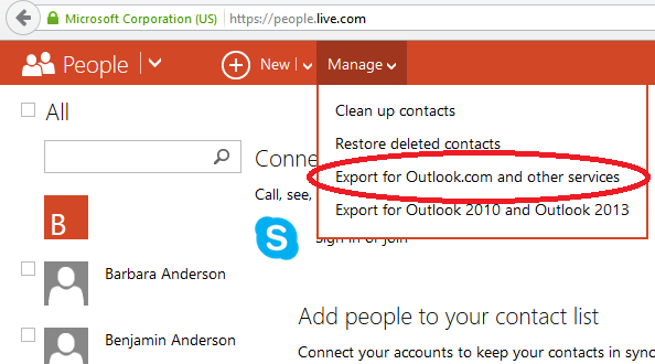 Export Contacts From Hotmail | AkrutoSync