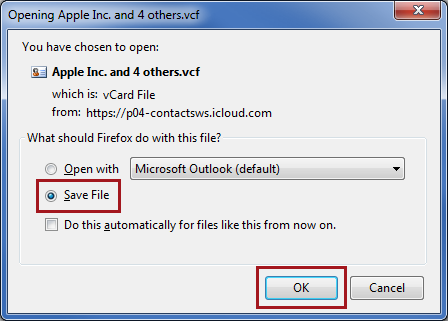 how to get outlook contacts