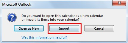 Select the Import option