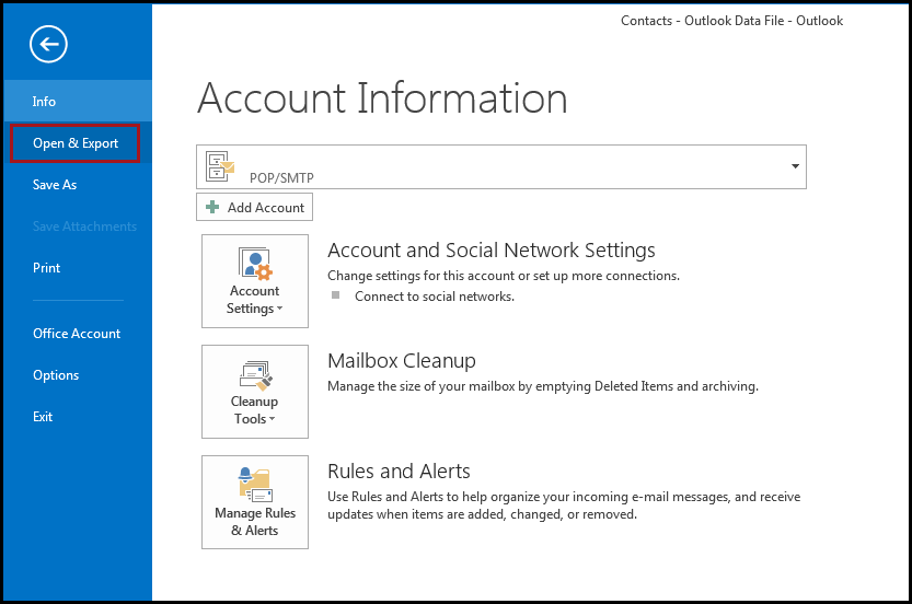 Import contacts in CSV format into Outlook 2013 | AkrutoSync
