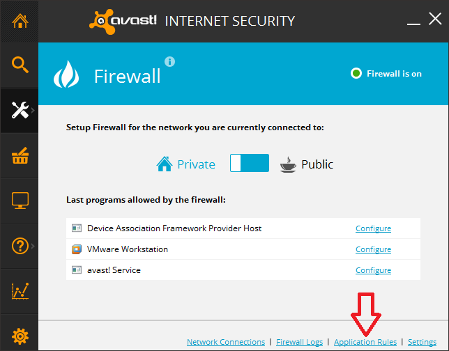 How to Configure Avast Internet Security Firewall | Akruto Sync