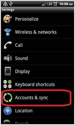 HTC Desire 600 Accounts and Sync screenshot
