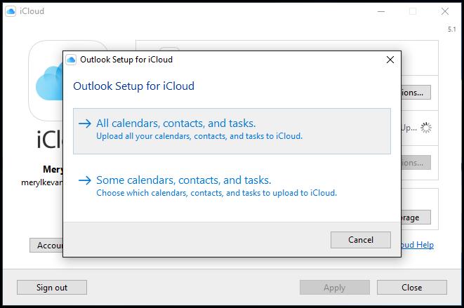 add icloud calendar to outlook mac updates