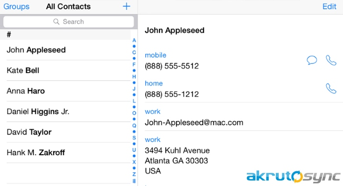 How to transfer Outlook contacts to iPhone over the air
