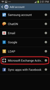 Samsung Galaxy S4 - Exchange ActiveSync