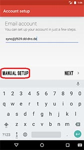 Android 5.0 Lollipop - Email address