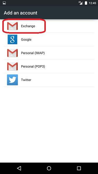 how to set up corporate email on android phone