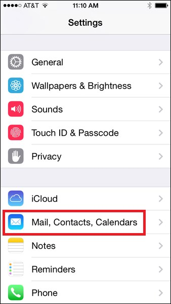 michener how to add email on iphone