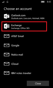 Sync your Windows 10 Mobile phone with Outlook - Settings