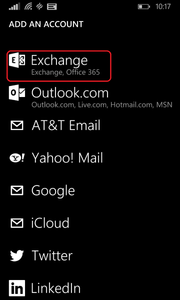 Sync Windows Phone 8.1 with Outlook - Exchange