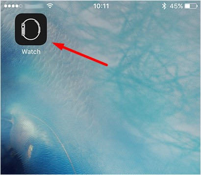Sync Apple watch to outlook - Step 1
