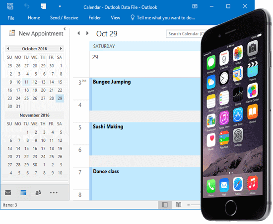 syn iphone with outlook