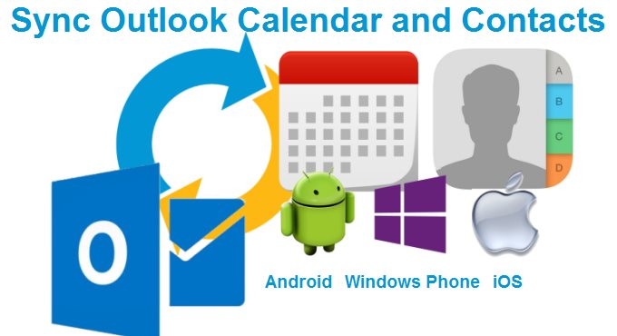 sync outlook calendar and contacts
