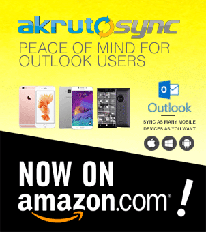 Sync your Outlook data to all your devices through AkrutoSync. Now available on Amazon.com