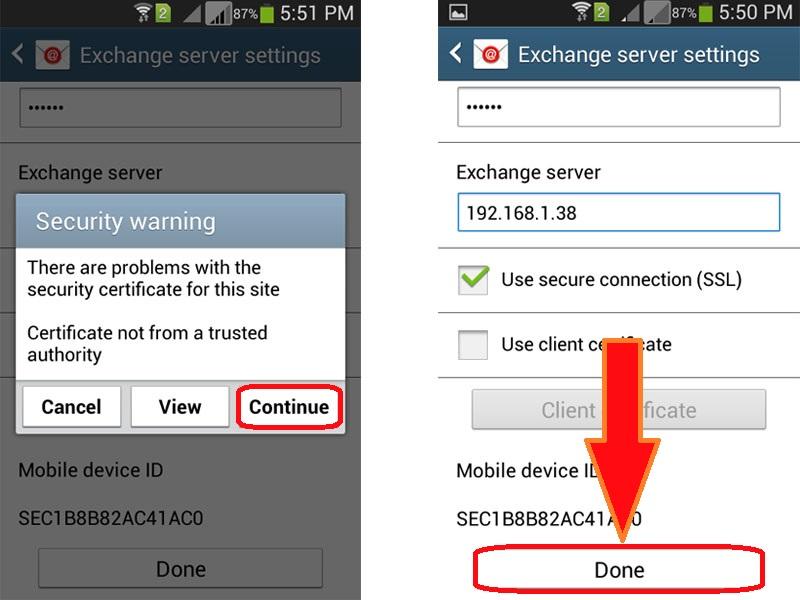 Updating Sync Settings On Samsung Galaxy S5 Akrutosync