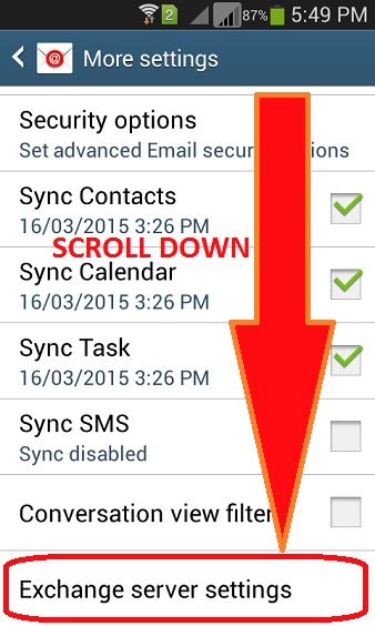 android exchange email setup instructions