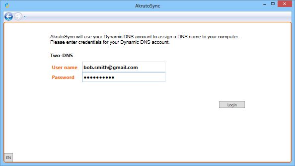 Login to Two-DNS.de