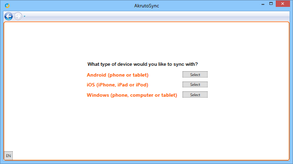 Sync Android or Windows Phone