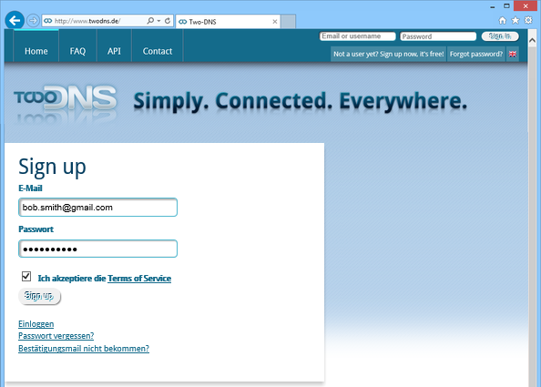 Two-DNS account